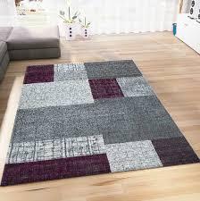 livingroom bedroom rug modern design carpet short pile tiled patterns in purple white and grey s9473 ceres web