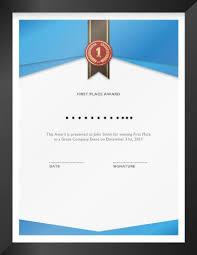 27 Printable Award Certificates Achievement Merit Honor Posthumous