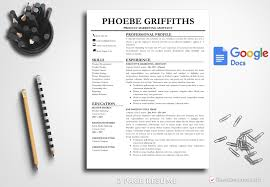 Professional Resume Template Phoebe Griffiths Bestresumes