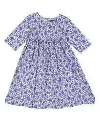Mustard Pie Clothing Size Chart Mustard Pie English Blue Floral Pepper A Line Dress Infant Toddler Girls