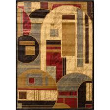 home dynamix royalty black rectangular indoor woven area rug common 5 x 8