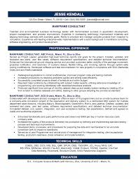 Management Consulting Resume Example Business Consultant Sample