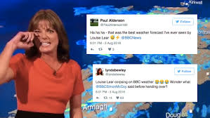 Louise lear was born in sheffield. Bbc Weather Presenter Goes Into Hysterical Laughing Fit Live On Air