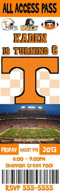 Tennessee Volunteers Football Seating Chart Greatest Vols Pictures