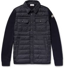 Coats and Jackets for Men | Designer Menswear | MR PORTER & Moncler - Panelled Virgin Wool-Blend And Quilted Shell Down Jacket Adamdwight.com