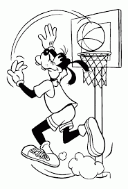 Disney Goofy Basketball Coloring Pages Cartoon Coloring Pages Of