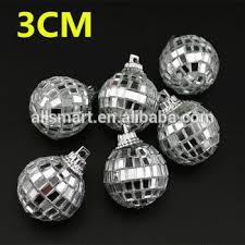 Mini Disco Ball Decorations 100cm Mini Silver Mirror Ball Ornaments Hanging Disco Mirror Ball 49