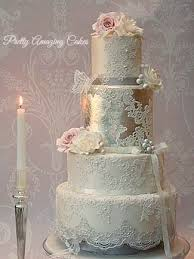8 Unique Vintage Lace Wedding Cakes Photo Beautiful Lace Wedding