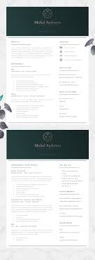 Professional Resume Template Resume Design Resumes Pinterest