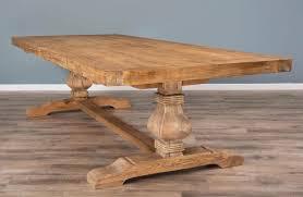 reclaimed elm pedestal dining table