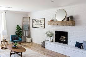brick walls in living room