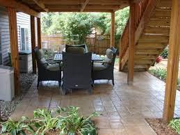 patio under decks patio deck designs