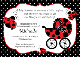 Ladybug Baby Shower Invitation  MarialonghiComFree Printable Ladybug Baby Shower Invitations