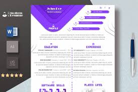 One Page Resume Templates Modern Template Microsoft Professional Resume Templates One Page