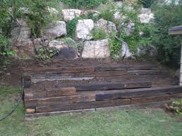 diy landscaping with railroad ties