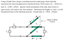 Solved Using A Smith Chart Design A Matching Network Emp
