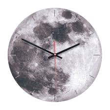 moon patern wall clock acrylic wooden round wall clock bedroom living room creative decorative wall clocks not included battery wood diy crafts o76637846