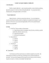 Example Of Outline Essay Examples Of Outlines For Essays Background