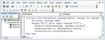 Automatic Sorting As You Enter Dates Using Vba In Microsoft Excel