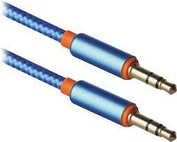 Аудио-кабель <b>Defender JACK01</b>-<b>03</b> M-M, 1.2м, синий