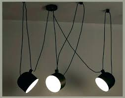 drum shade pendant light hanging personality spider lamp black modern adjule with