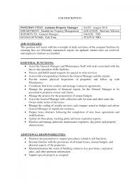 Job Descriptions For The Facility Manager Resume With Essential       estate manager resume happytom co