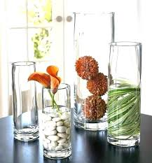 bowl filler ideas decorating lemons vase fillers orange colored glass