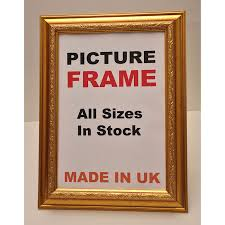 ornate shabby chic gold picture frame 12 56
