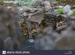 Artificial Pond Design Decorative Design Of A Pond With An Artificial Waterfall