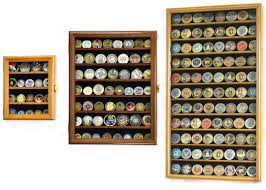 mirrored back military challenge coin display case cabinet holders wall mounted