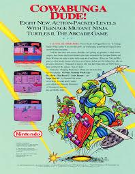 Ninja Turtles Arcade Cabinet Teenage Mutant Ninja Turtles Ii The Arcade Game Playchoice 10