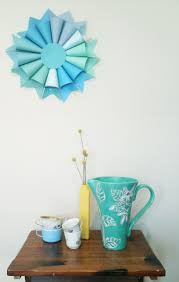 Decorations:Beautiful Hanging Party Decor Paper Lantern DIY Geometric  Design Sky DIY Blue Paper Pastel