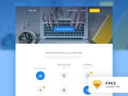 Modern Website Templates Impressive Modern Website Template Freebie Download Sketch Resource Sketch Repo
