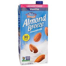 blue diamondalmond milk almond breeze vanilla unsweetened