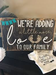 Baby Announcements Custom Wood Sign Future Kids Baby Pregnancy