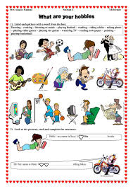 What Is Your Hobbies What Are Your Hobbies Worksheet Free Esl Printable Worksheets Made
