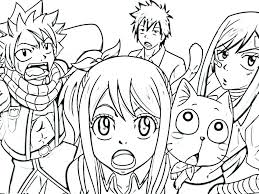 Anime Coloring Pages Sheets Printable