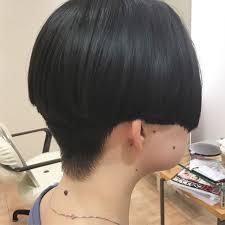 刈り上げ マッシュ 刈り上げ女子 黒髪fabris 平本 詠一 463754hair