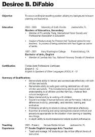Examples Of Educational Resumes Teacher Resume Examples Sample