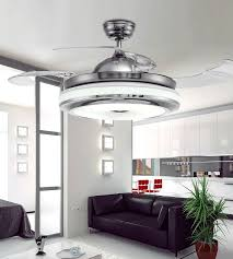 best ceiling fans for bedrooms uk beautiful 2018 invisible retractable blades chrome ceiling fan 42 inch