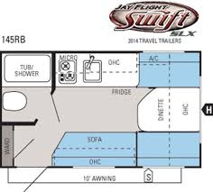 2014 jayco jay flight swift slx 145rb travel trailer prescott az floorplan