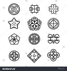 Traditional Symbols Korean Traditional Symbol Vector Image Stock Vector Royalty Free