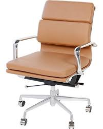Image Soft Pad Eames Style Executive Leather Office Chair Brown People Amazing Deal On Eames Style Executive Leather Office Chair Brown