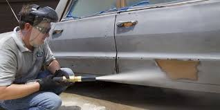 diy dustless blasting stripping paint from a car with sand blasting diy dustless