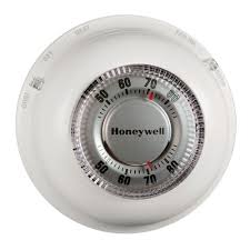 Heat Cool Honeywell Round Heat Cool Thermostat Ct87n The Home Depot
