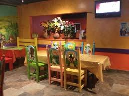 painted mexican furniturebrightly colored painted chairs  Picture of Joses Mexican Grill