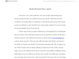 abortion essay examples of argumentative essays on abortion examples of argumentative essays on abortion