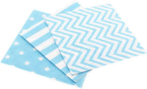 Light Blue Chevron Paper Napkins Anyneo Striped Chevron Polka Dot Blue Paper Beverage Napkins 60 Count