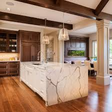Multi Wood Kitchen Cabinets Multi Level Countertops Kitchen Transitional With Dark Wood Cabinets