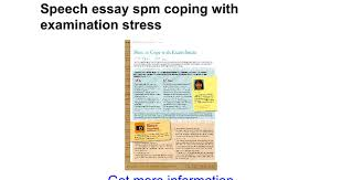 speech essay spm coping examination stress google docs